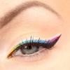 Макияж глаз. Декоративная разноцветная стрелка