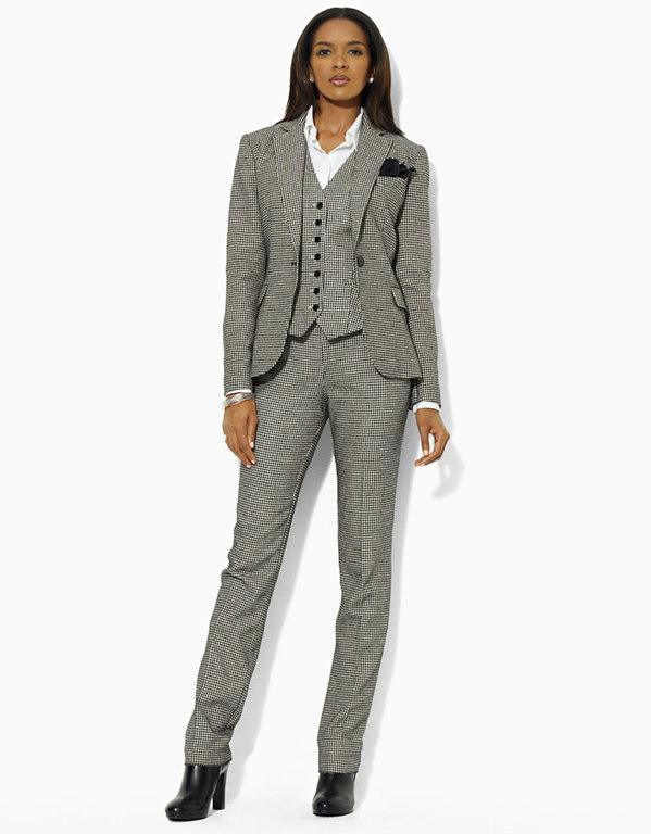 a00a4fa00b4 Брючный костюм-тройка Мужской стиль в женском гардеробе.