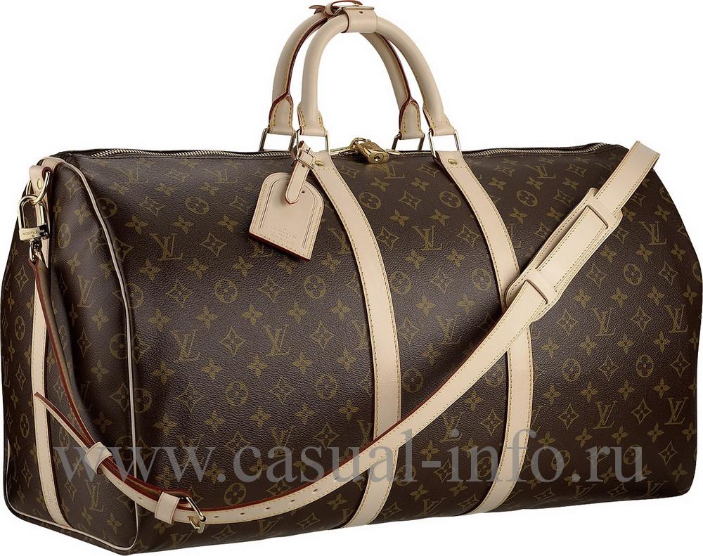 abf7f32e8121 ... Louis Vuitton саквояж keepal, ткань Monogram Canvas ...