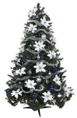 Банты из декоративной ленты на елку своими
