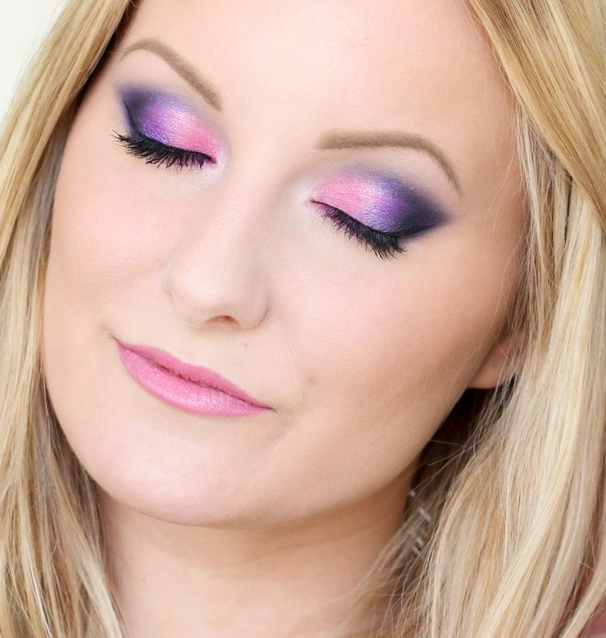 Макияж глаз нежно фиолетовый