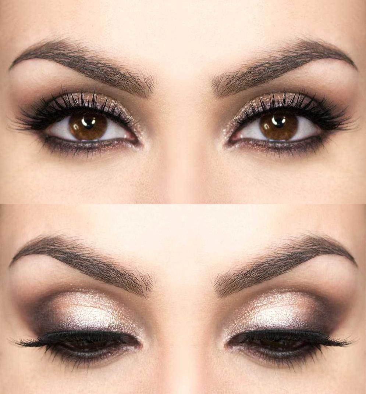 Фото летнего макияжа для карих глаз