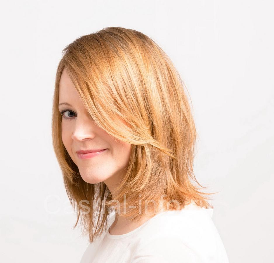 Каскадные стрижка для вьющихся волос