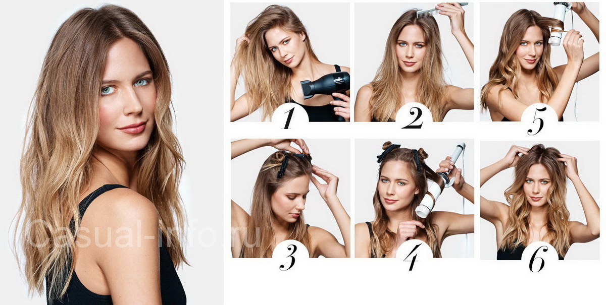 Как сделать мягкие волны волосы