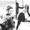 Мода 1970-х Мариса Беренсон. Сочетание мини и макси, Vogue, США, 1971год