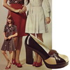 Мода 1970-х. Обувь на платформе 1974 год