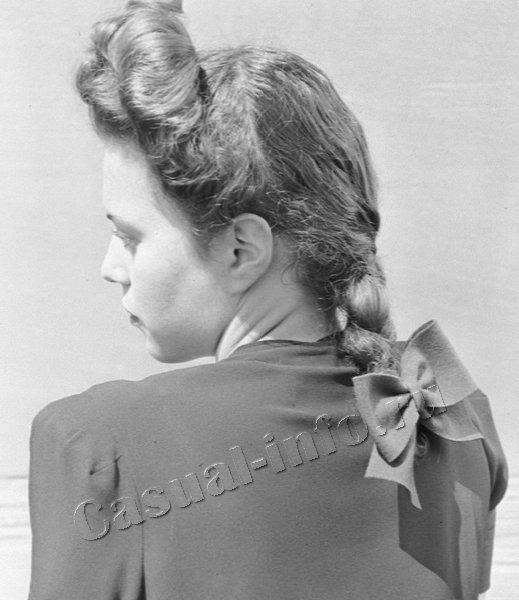 Прическа 40-х годов девочек