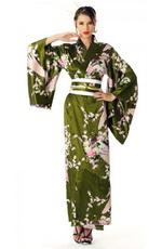 Зеленый цвет в национальном костюме Японии