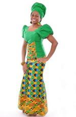 Зеленый цвет в национальном костюме Африки